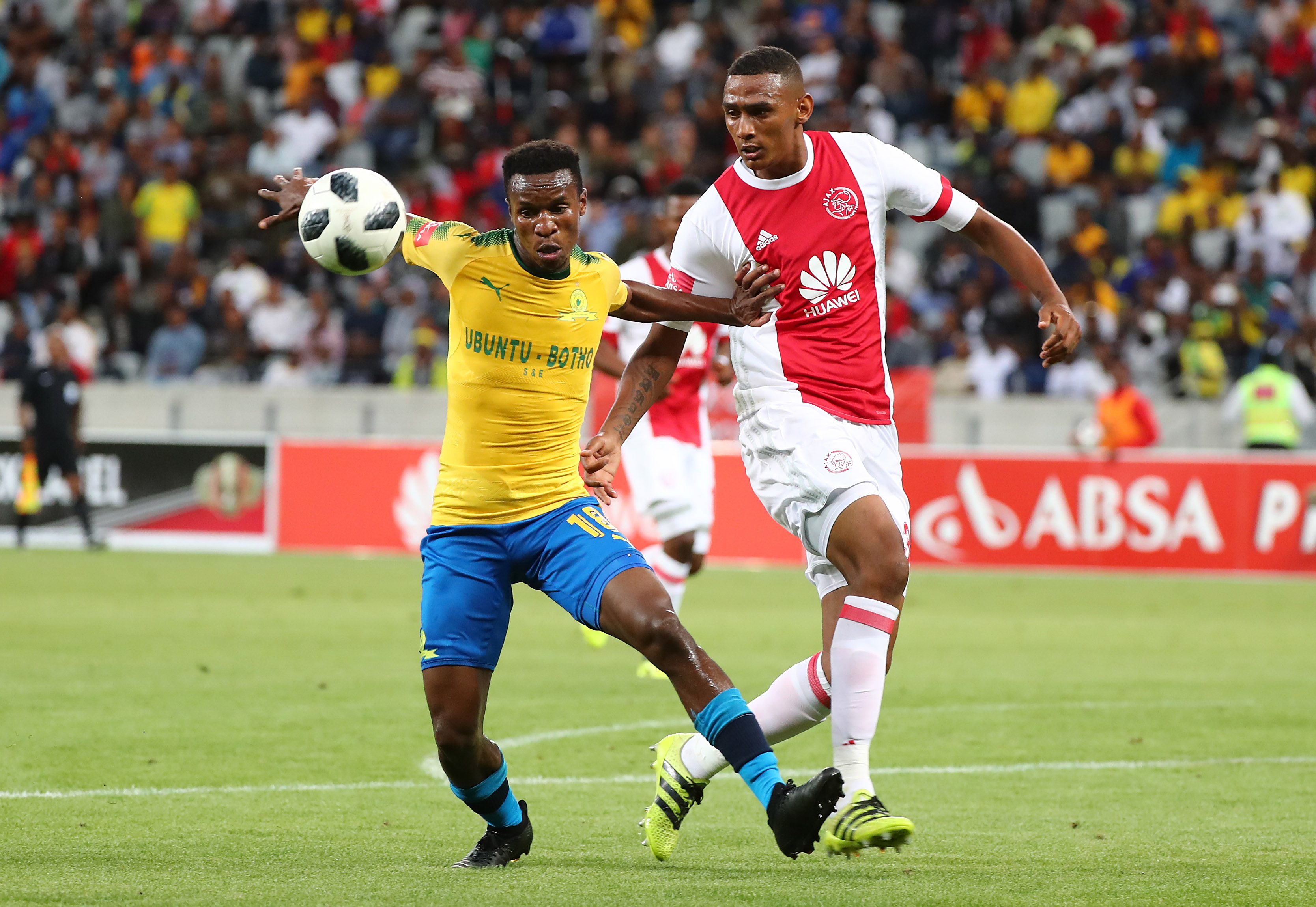 969990c9b64 Mamelodi Sundowns scored two goals in two minutes to move four points clear  atop the Absa Premiership standings